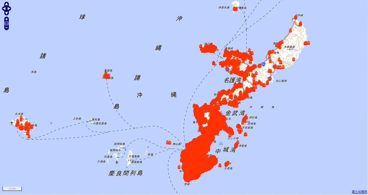 沖縄県における不発弾発見地