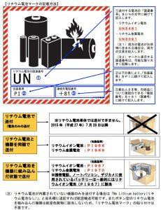 リチウム電池発送のためのUN、PI番号